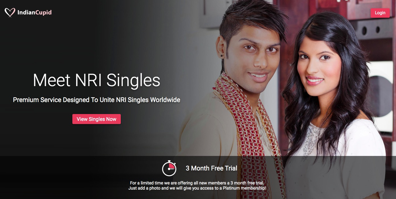IndianCupid main page