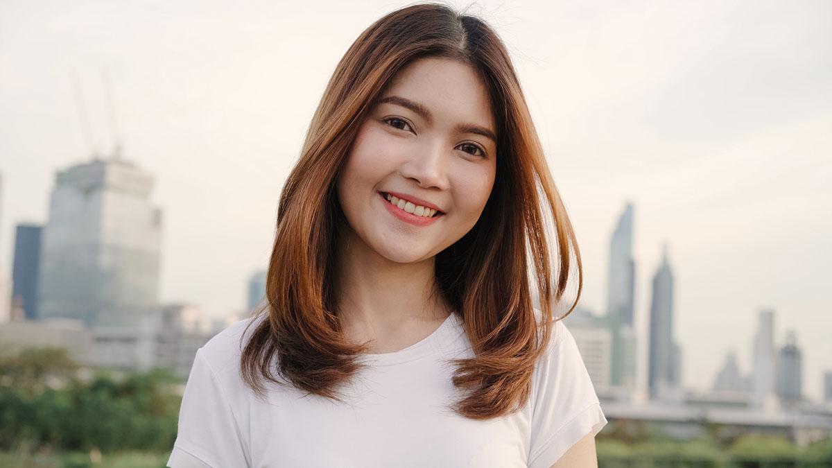 young beautiful Cambodian woman